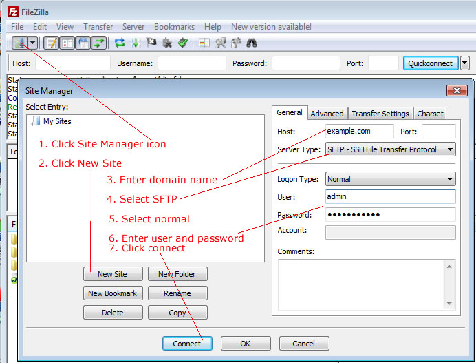 Secured SFTP using FileZilla | Learn Web Design Online