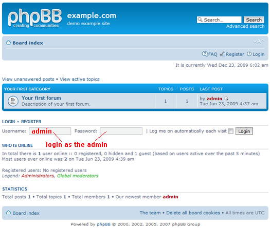 first look at phpbb
