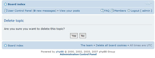 phpBB delete-confirmation