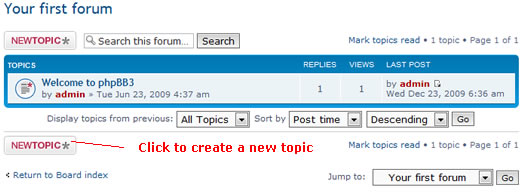 phpBB new topic