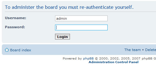phpBB reauthenticate