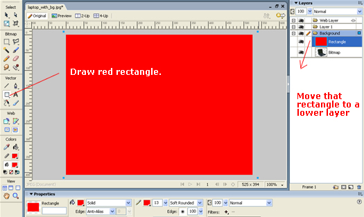 draw high-contrast rectangle