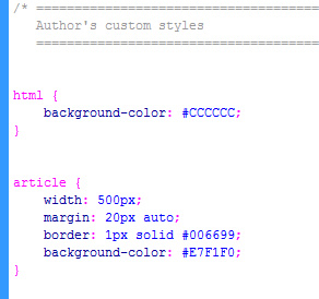 CSS Page definition