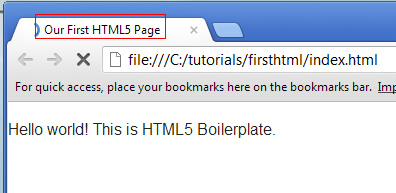 Page Title Shown in Tab
